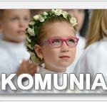 dziewczynka na komunii w różowych okularach