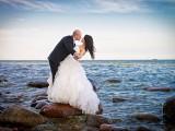 małżeństwo na tle morza