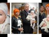 rodzina z dzieckiem na chrzcie
