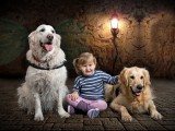 dziewczynka z psami